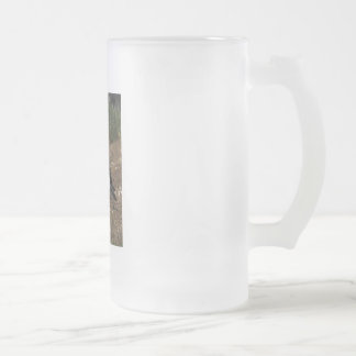 Puffin Frosted Glass Beer Mug