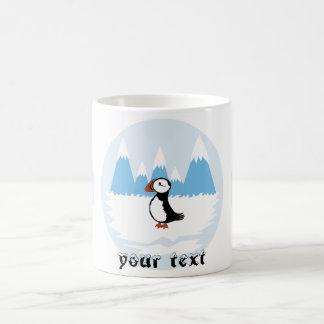 Puffin illustration coffee mug