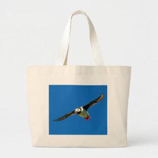Puffin in flight bag