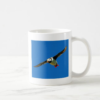 Puffin in flight classic white coffee mug