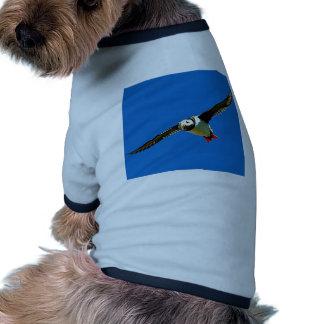 Puffin in flight dog tshirt
