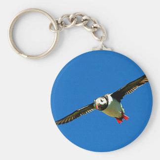 Puffin in flight keychains