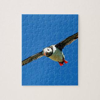 Puffin in flight skellig Islands Ireland Jigsaw Puzzle