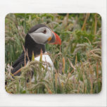 Puffin in Grass Mouse Pad
