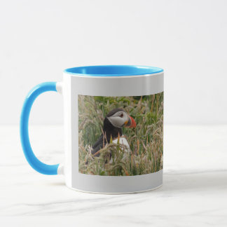 Puffin in Grass Mug