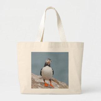 Puffin Pose Large Tote Bag