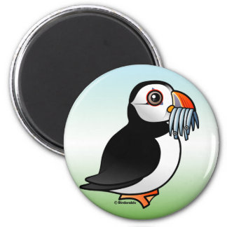 Puffin Prowess 2 Inch Round Magnet