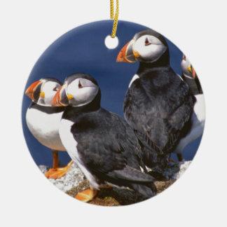 Puffin-tastic Ceramic Ornament