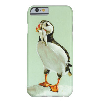 Puffin with Fish iPhone 6 Case