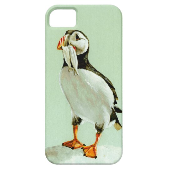 Puffin with Fish iPhone SE/5/5s Case