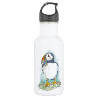 Puffin with Fish Snack Water Bottle