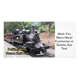 Puffing Billy Historic Steam Train in Australia Card