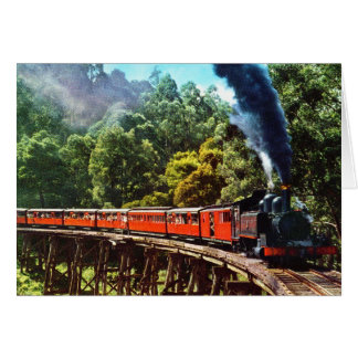 PUFFING BILLY IN AUSTRALIA GREETING CARD