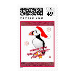 Puffingly Perfect Christmas! Postage Stamps