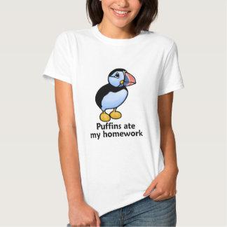 Puffins Ate my Homework Shirt