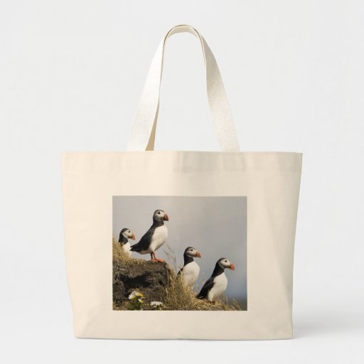 Puffins Canvas Bags