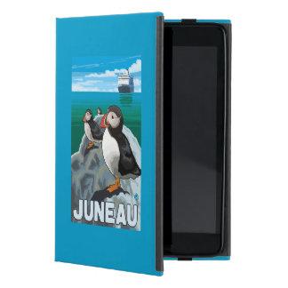 Puffins & Cruise Ship - Juneau, Alaska iPad Mini Covers