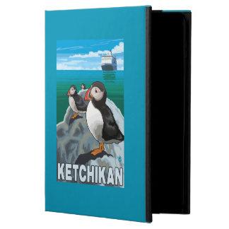 Puffins & Cruise Ship - Ketchikan, Alaska Cover For iPad Air