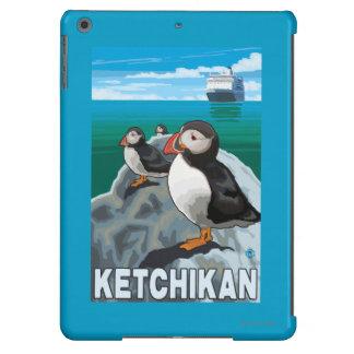 Puffins & Cruise Ship - Ketchikan, Alaska iPad Air Covers