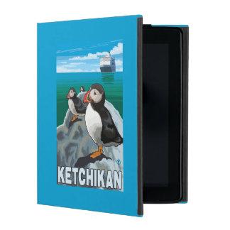 Puffins & Cruise Ship - Ketchikan, Alaska iPad Case