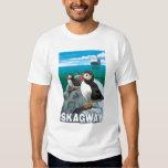 Puffins & Cruise Ship - Skagway, Alaska Shirts