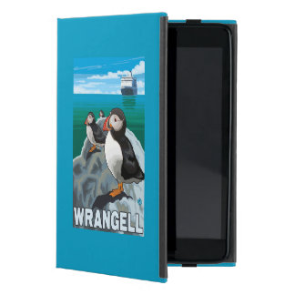 Puffins & Cruise Ship - Wrangell, Alaska Cases For iPad Mini