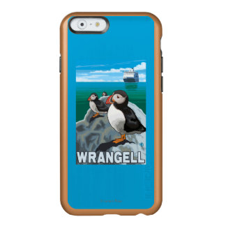 Puffins & Cruise Ship - Wrangell, Alaska Incipio Feather Shine iPhone 6 Case