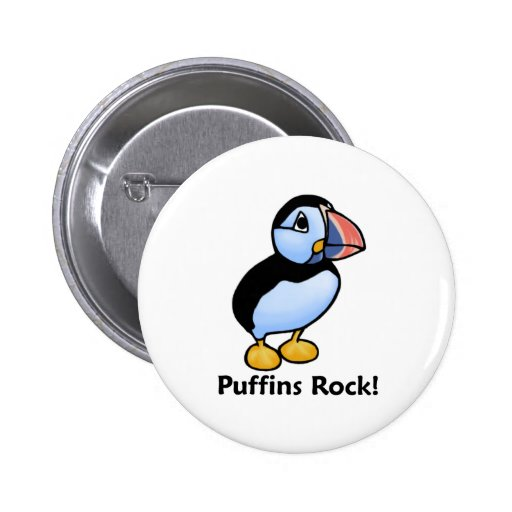 Puffins Rock! Pinback Buttons