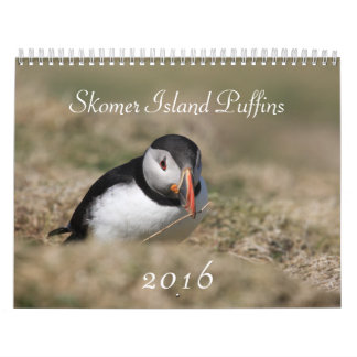 Puffins - Skomer Island 2016 Wales Calendar