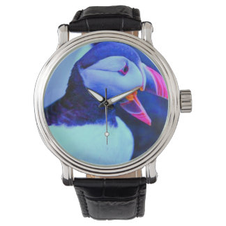Puffins Tell Time Under Water this Time of Year Watches