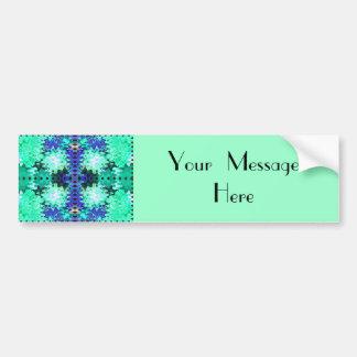 puffs blue green bumper sticker