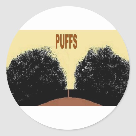 PUFFS CLASSIC ROUND STICKER