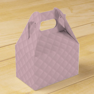 Puffy Baby Pink Quilted Leather Bridal Favor Box