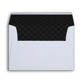 Puffy Black Quilted Leather 5x7 Lining Envelope