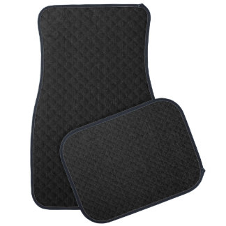 Puffy Black Quilted Leather Car Mats Car Mat