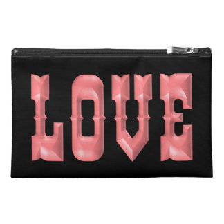 Puffy Bubblegum Pink LOVE Travel Accessory Bag