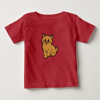 Puffy Cat – Orange Baby T-Shirt