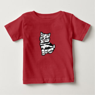 Puffy Cat – Striped Baby T-Shirt