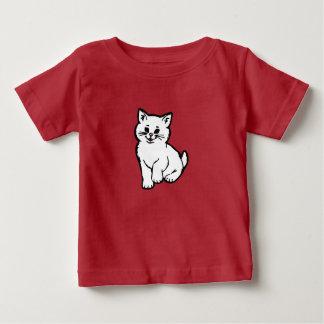 Puffy Cat – White Baby T-Shirt