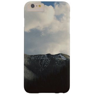 Puffy clouds in blue sky over mountain barely there iPhone 6 plus case