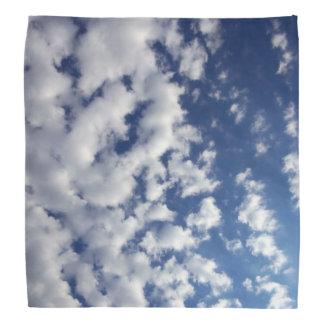 Puffy Clouds On Blue Sky Bandana