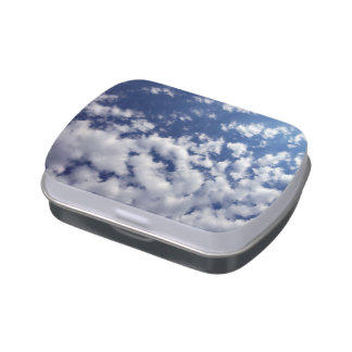 Puffy Clouds On Blue Sky Jelly Belly Tin