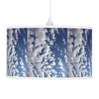 Puffy Clouds On Blue Sky Ceiling Lamp