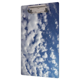 Puffy Clouds On Blue Sky Clipboard