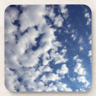 Puffy Clouds On Blue Sky Coasters