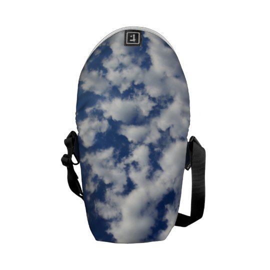 Puffy Clouds On Blue Sky Courier Bag