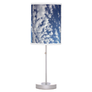 Puffy Clouds On Blue Sky Desk Lamp