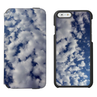 Puffy Clouds On Blue Sky iPhone 6/6s Wallet Case