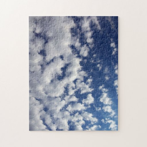 Puffy Clouds On Blue Sky Jigsaw Puzzles