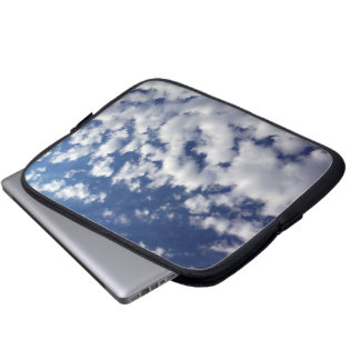 Puffy Clouds On Blue Sky Laptop Sleeve